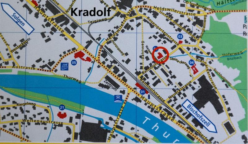 Lageplan Feuerwehrmuseum Kradolf-Schönenberg - Thurgau